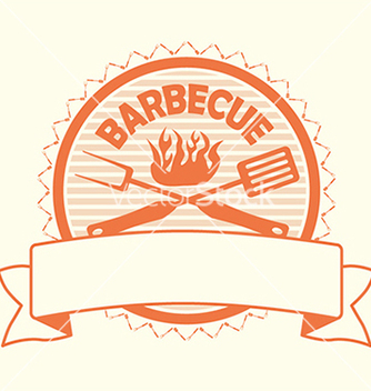 Free barbecue label stamp design element vector - vector gratuit #233315