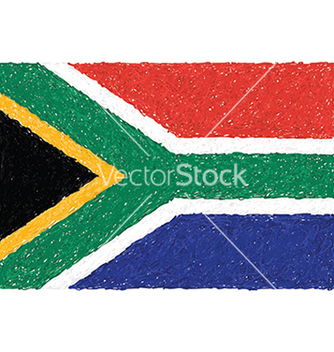 Free hand drawn of flag of south africa vector - vector gratuit #233475