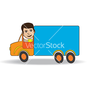 Free truckdriver vector - Free vector #233615