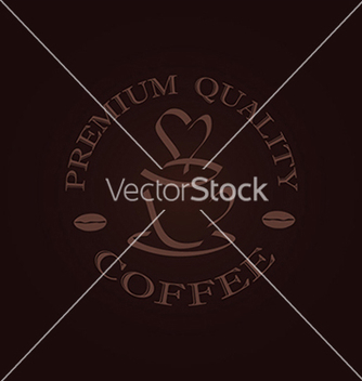 Free minimal quality coffee label stamp design element vector - Free vector #233635
