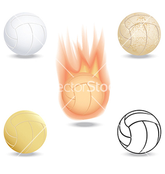 Free volleyball vector - бесплатный vector #233655