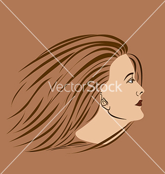 Free woman side vector - vector gratuit #233665
