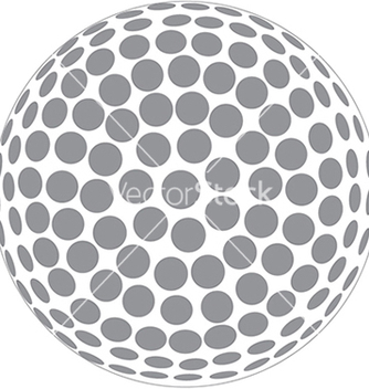 Free a golfball outline isolated in white background vector - Kostenloses vector #233715