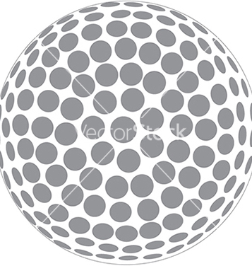 Free a golfball outline isolated in white background vector - vector gratuit #233715