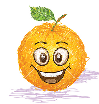 Free happy orange fruit vector - бесплатный vector #233735