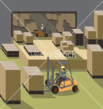 Free forklift operator vector - Free vector #233745