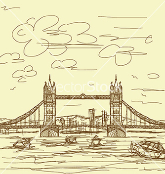 Free vintage hand drawn of famous tourist destination vector - Free vector #233785