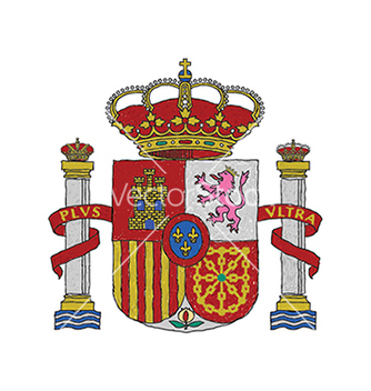 Free hand drawn of spain coat of arms vector - Kostenloses vector #233815