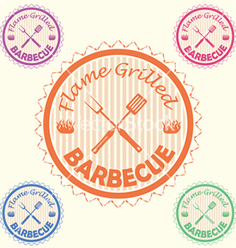 Free barbecue label stamp design element with text vector - vector #233885 gratis