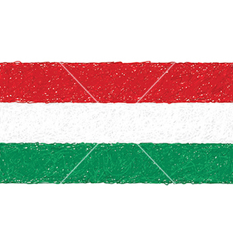 Free hand drawn of flag of hungary vector - Free vector #233905