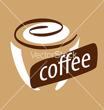 Free logo cup of coffee and cream vector - Kostenloses vector #233955