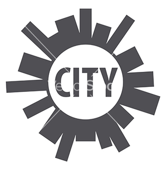 Free round logo city of the planet vector - Free vector #234065