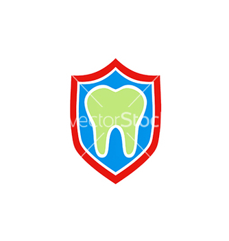 Free dentist health protection shield logo vector - vector gratuit #234175
