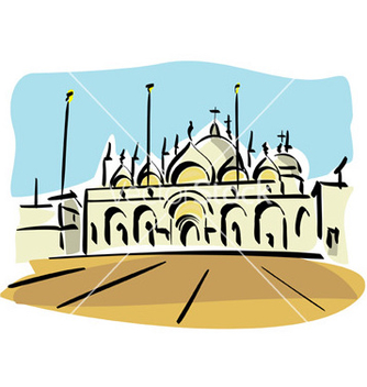 Free venice st mark church vector - vector gratuit #234195