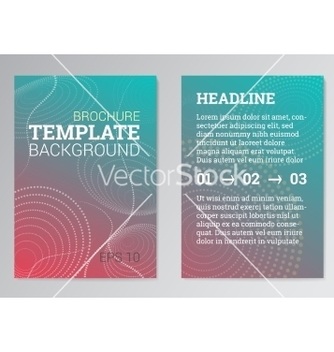 Free set of poster brochure design templates in green vector - vector #234245 gratis