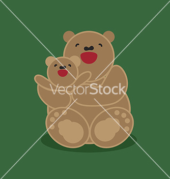 Free sticker card with happy mother and child brown vector - vector gratuit #234325