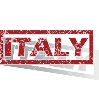 Free italy outlined stamp vector - vector gratuit #234415