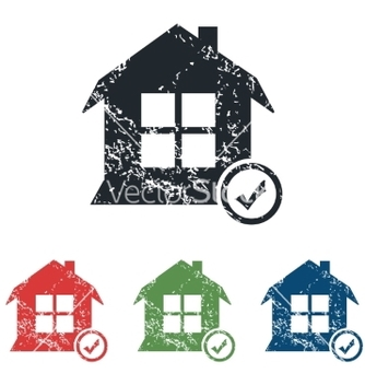 Free select house grunge icon set vector - vector gratuit #234555