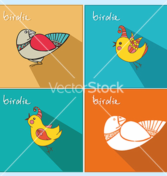 Free icons with birds vector - бесплатный vector #234565