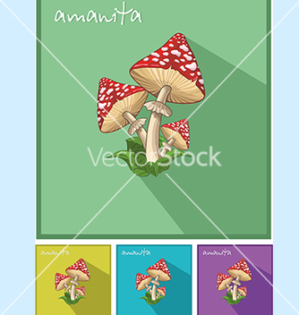 Free icon with fly agaric vector - vector #234585 gratis