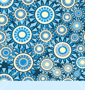 Free abstract pattern with circles on a blue background vector - vector #234605 gratis