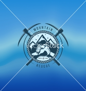 Free mountain rescue vintage label vector - Kostenloses vector #234725