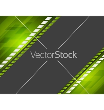 Free abstract tech corporate green black background vector - Free vector #234755