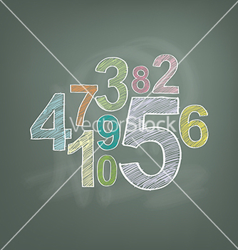 Free number on chalkboard vector - бесплатный vector #235085