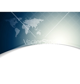 Free blue wavy tech background with world map vector - бесплатный vector #235295