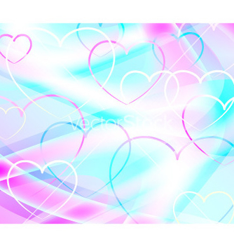 Free background with hearts abstract vector - Kostenloses vector #235345