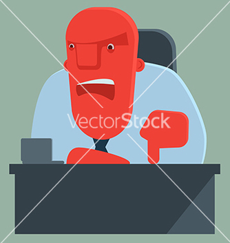 Free dissatisfied boss warns someone vector - vector #235365 gratis