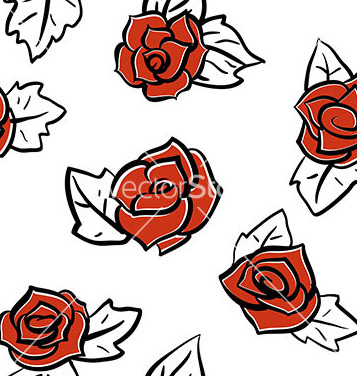 Free red roses pattern vector - бесплатный vector #235405