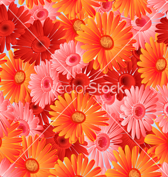 Free seamless texture gerbera in festive vector - Free vector #235415