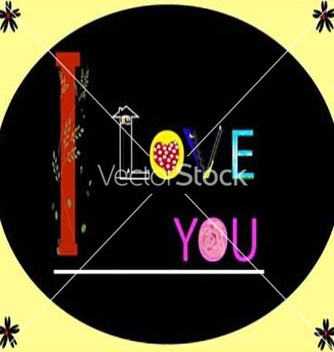 Free i love you vector - vector gratuit #235445