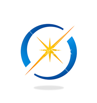 Free spark star shine circle logo vector - бесплатный vector #235475