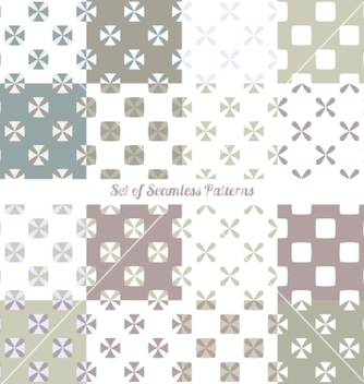Free seamless ornaments vector - Free vector #235525