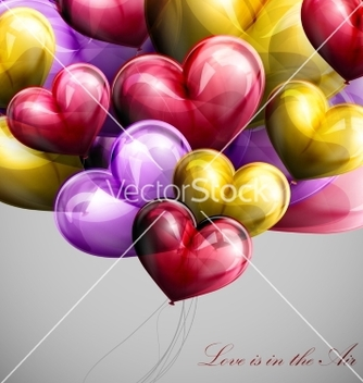 Free holiday flying bunch of balloons vector - vector gratuit #235715