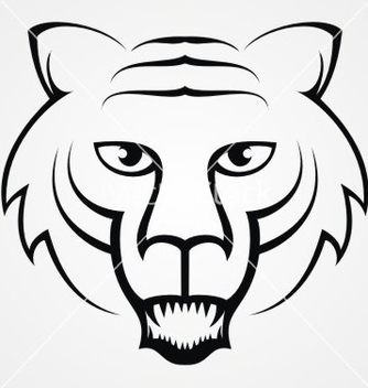Free tribal tiger head vector - vector #235745 gratis