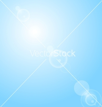Free shiny lens flare on blue sky vector - Kostenloses vector #235845