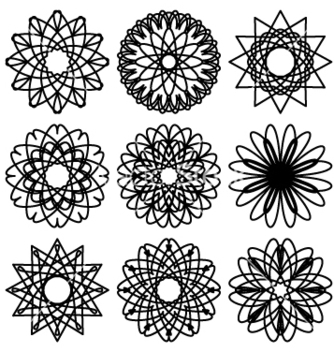 Free set of circular ornaments vector - vector gratuit #235865