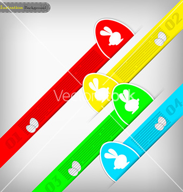 Free abstract easter infographic vector - Free vector #235895