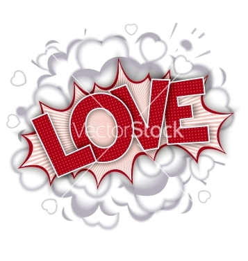 Free love comic speech bubble vector - Free vector #236015