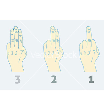 Free three step countdown with middle finger light vector - vector #236045 gratis