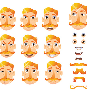 Free cartoon faces for humor vector - vector #236275 gratis