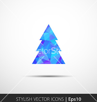 Free polygon christmas tree icon vector - Free vector #236285