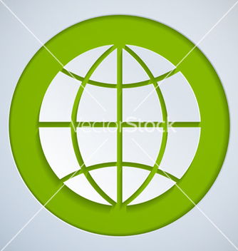 Free globe paper green vector - Free vector #236305
