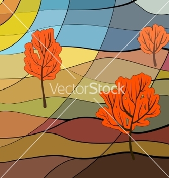 Free autumn landscape vector - Free vector #236325