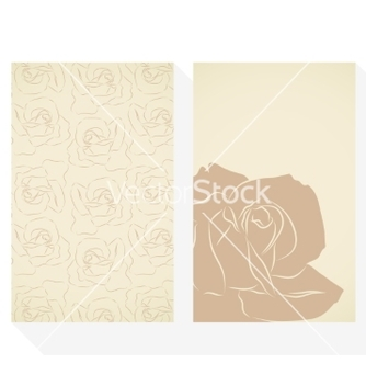 Free retro business cards set with silhouette roses vector - vector gratuit #236535