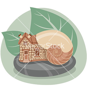 Free snail house vector - бесплатный vector #236585