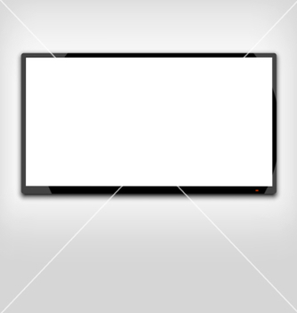 Free lcd or led tv screen hanging on the wall vector - бесплатный vector #236605